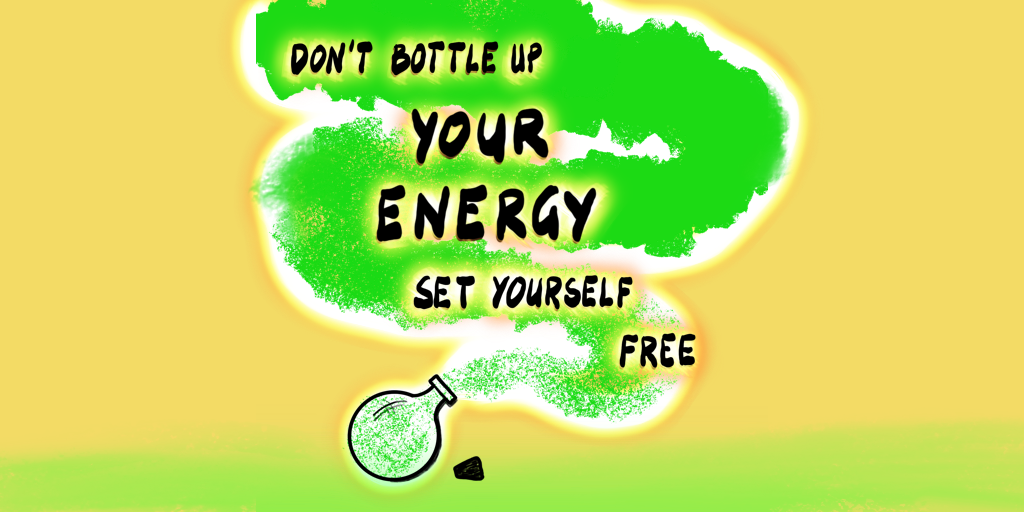 Bottle releasing energy
