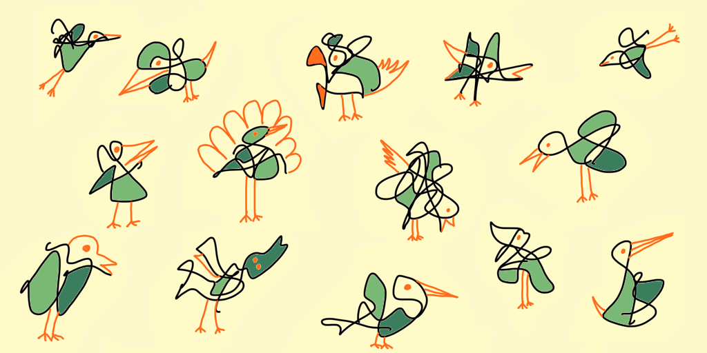 Squiggle Birds